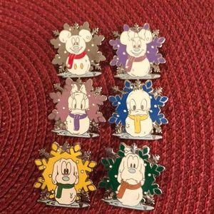 Disney Snowflake pins